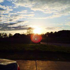 Arkansas sunset.