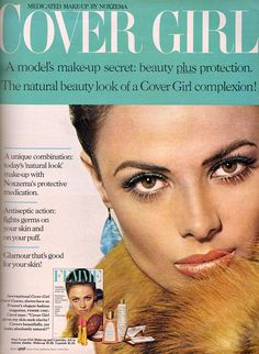 Natural Makeup Looks, Natural Looks, Cover Girl Makeup, Makeup Ads, Beauty Ad, Vintage Beauty, Covergirl, Medical, Glamour