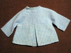 Suesses-altes-Puppenkleid-blau-Kleidchen-fuer-Zapf-Goetz-und-Schildkroet-Puppen