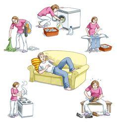 Tarefas domésticas…