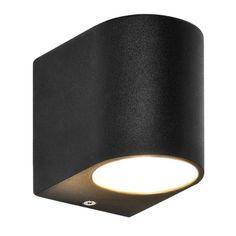 LED Wandleuchte, Wandlampe, Außenleuchte, Aluminium, 1 Flammig, Schwarz,  GU10