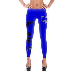 7f8827c9b5396e Blue Mototastic Legginz Active Wear For Women, Yoga Pants, Hurley,  Polyester Spandex,