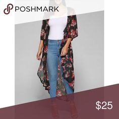 Floral Kimono just in from my online store, Cosmic Designs! Don't forget to bundle and save! cosmic designs Jackets & Coats