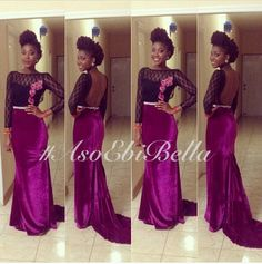 BellaNaija Weddings presents – – Fab Aso Ebi Styles! African Inspired Fashion, African Print Fashion, Africa Fashion, African Prints, African Prom Dresses, African Dress, African Lace, Nigerian Dress, Nigerian Fashion