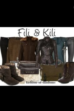 Fili and Kili inspired outfits from The Hobbit