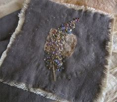 Buddlea shape flower in French knot embroidery
