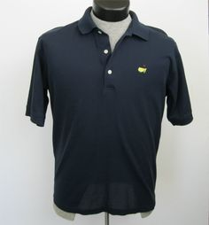 Augusta National Golf Shop Shirt M Polo Navy Blue Masters Excellent