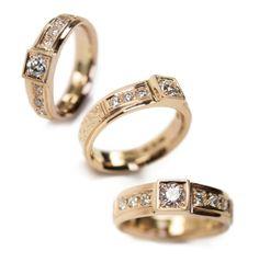 """Katerina"" <3  585o/oo gold, 6x0,03ct tw/vs & 0,21ct tw/si diamonds. Diamonds, Wedding Rings, Engagement Rings, Jewellery, Gold, Enagement Rings, Jewels, Schmuck, Diamond"