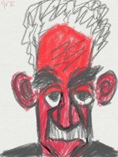 Homero Alsina Thevenet. periodista. dibujo en iPad