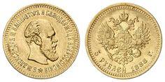 Russia, Alasdair III., 5 Rouble 1888, Friedb. 168, very nice    Dealer  Auction house Ulrich Felzmann    Auction  Minimum Bid:  250.00EUR