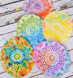 Húsvéti papír tojások csipkés tortapapírból - ötlet gyerekeknek / Mindy -  kreatív ötletek és dekorációk minden napra