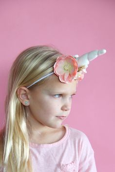 how to make a unicorn headband  ||  unicorn headband DIY