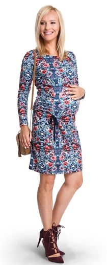 Dorothy Perkins Maternity Scoop Neck Bow Midi Dress Vestido para Mujer