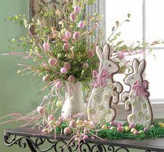 Colorful Easter Egg Spray Branch for Easter Arrangement | eBay