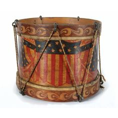 Top Quality and selection of Rare Antique American Flags Antique Toys, Or Antique, Vintage Toys, American War, Early American, Tambour, Pull Wagon, Patriotic Images, I Love America
