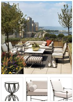 here you will find a lot of terrace gardens ideas. how to decorate your terrace. Any way most of terrace are sunny and so a flower garden is easy to grow. Add flowers to your terrace garden Rooftop Design, Terrace Design, Garden Design, Deck Design, Rooftop Terrace, Terrace Garden, Rooftop Gardens, Small Terrace, Small Patio