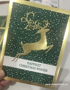 Foil-Edged Cards & Envelopes (gold or silver) now available. Foil-Edged Cards & Envelopes (gold or silver) now available. Happy Christmas Wishes, Christmas Cards 2018, Homemade Christmas Cards, Christmas Deer, Christmas Greeting Cards, Homemade Cards, Handmade Christmas, Holiday Cards, Christmas 2019