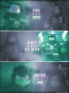 """• #LEGO #LEGONinjago #Ninjago #S5 #Possession   • [""""evil and good""""] #quote • #Lloyd #LloydGarmadon  • My Edit. Hope you'll like it! :-)"""