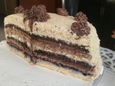 Skladaná orechová torta - obrázok 9 Bosnian Recipes, Hungarian Recipes, Bosnian Food, Sweet Desserts, Let Them Eat Cake, Nutella, Cake Decorating, Bakery, Food And Drink