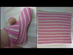Crochet slippers not in English very easy / explain how to take .- Crochet slippers not in English وسهل جدا / شرح طريقة اخذج… Crochet slippers not in English and very easy / explain how to make DIY ! One-piece crochet shoes … - Easy Crochet Blanket, Crochet Baby, Knit Crochet, Diy Crafts Knitting, Diy Crafts Crochet, Knitted Slippers, Crochet Slippers, Crochet Patterns For Beginners, Knitting Patterns Free