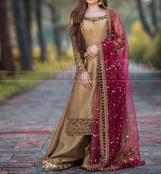 For more information 03315666933 We can Customize any outfit the way you want in. Shadi Dresses, Pakistani Formal Dresses, Pakistani Wedding Outfits, Pakistani Dress Design, Indian Dresses, Pakistani Mehndi Dress, Pakistani Dresses Online, Pakistani Bridal Wear, Indian Outfits