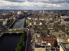 Spanning the Liffey River, the late-18th-century O'Connell Bridge is a primarily granite structure that was widened in 1882.