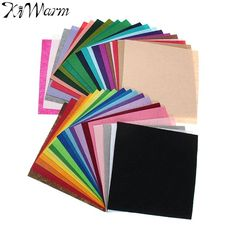 40pcs 20*20cm Colorful Felt Fabric DIY Polyester Fabrics Cloth Felt Feltro for Sewing Handmade Art Handwork Crafts DIY Material