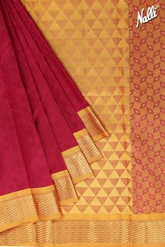 If you love Jaquard designs, then this Maroon Kanchipuram Silk Saree is just for you!