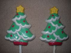 1 Dog Safe Chocolate gourmet christmas star snow tree Rawhide lollipop Lollipops #castlerockchocolatessapphirechocolates