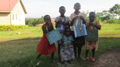 A sponsor hand-made these wonderful tote bags for the girls in our CEI projects in Jinja, Uganda... — in Jinja, Uganda.