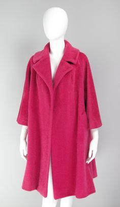 1960s Lilli Ann raspberry swing coat  USA