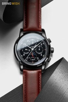 ⌚ A PERFECT GIFT: This luxury automatic leather strap watch fits great for every occasion be it a formal or casual outfit. Sport Watches, Cool Watches, Wrist Watches, Best Affordable Watches, Army Gifts, Luxury Watches For Men, Watch Sale, Vintage Watches, Shopping