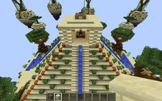 Selling - Pre-Made HQ Skywars Map Pyramid Oasis Themed | Minecraft Market