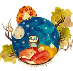 #watercolorillustration #childrensbookillustration #bookillustration #watercolor #owldraw #foxillustration #starsandmoon #art #drawing #painting #illustration #sketch #artwork #artist #ink #watercolour #paint #color #draw #pencil #creative #instaart #graphic #drawings #myart #arte #paintings #graphicdesign #martonszimona