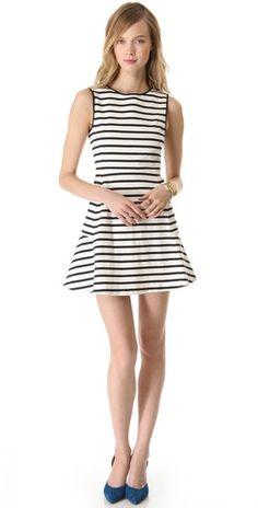 striped dress / theory