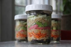 deconstructed sushi and other jar lunches