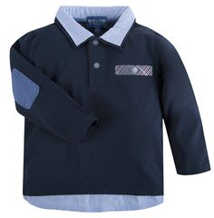 """Andy & Evan """"Navy"""" The Grant Williams Polo Shirt"""