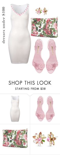 """""""Untitled #2011"""" by nadia-n-pow on Polyvore featuring American Vintage, Dolce&Gabbana, Betsey Johnson and under100"""