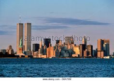 statue of liberty and twin towers | 1980s STATUE OF LIBERTY AND TWIN TOWERS OF WORLD TRADE CENTER NEW YORK ...