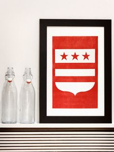 The District // Letterpress Print on 100% Cotton // Old Try // $42