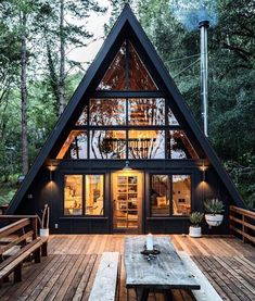 Inverness A-Frame Cabin by Blythe Design Co - . Inverness A-Frame Cabin by Blythe Design Co - 30 best playroom ideas for small and large rooms - # for. Cabin Design, Tiny House Design, Home Design Decor, Design Ideas, Wood House Design, Cottage Design, Design Crafts, Design Design, Modern Design