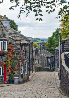 """Heptonstall, Calderdale, West Yorkshire, UK """" eee lass, get thi leg i bed and gi us a pull up here"""". Yorkshire dialect means. Put your arm in mine and help me up this hill love. Yorkshire England, Yorkshire Dales, West Yorkshire, Cornwall England, England Ireland, England And Scotland, Oh The Places You'll Go, Places To Visit, English Village"""