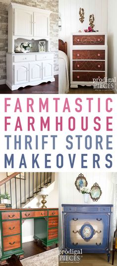 It's time for another look at some Farmtastic Farmhouse Thrift Store Makeovers.  It seems as though the our Blogger Friends just keep getting more and more creative if that is possible!  Today we have some awesome makeovers…from a Step Stool and Cutting Board Coming together to one of our favorite Thrift Store Creators Daughter joining …