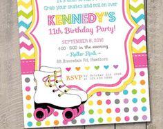 Patín invitan a / invitación del partido del patín / patín invitación de cumpleaños / cumpleaños patín / patín imprimible