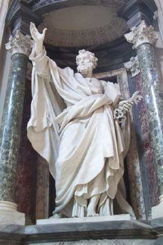 St. Peter, among the magnificent statues of the 12 apostles throughout the nave of St. John Lateran.