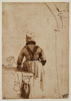 Vervaardiger Rembrandt Harmensz. van Rijn (1606 - 1669) (tekenaar) Titel Geertge Dircx