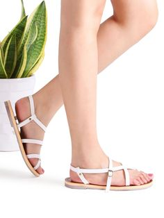 Shop White Cross Detail Flat Sandals online. SheIn offers White Cross Detail Flat Sandals & more to fit your fashionable needs.