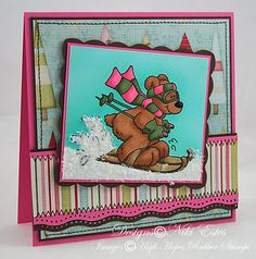 My Paper Creations: Winter fun High Hopes, Winter Fun, Stamping, Bears, Paper, Christmas, Inspiration, Image, Xmas