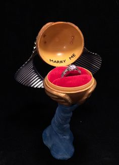 6 quirky engagement ring boxes harry potter - Harry Potter Wedding Rings