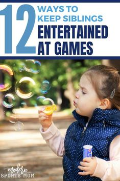 Keeping siblings busy while their brother or sister is playing a sport is no easy task. Over the years I've learned a thing or two about how to entertain kids at their sibling's games. 12 Ways to Keep Siblings Entertained at Games #sports #family #teammom #sportsmom